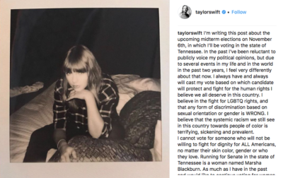 Taylor Swift's IG Post